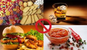 Продукты не рекомендуемые при себорее