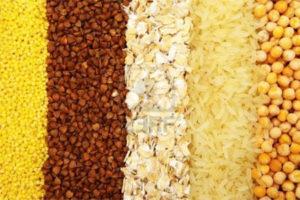 гречка, рис, пшено, злаки