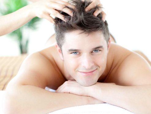 массаж кожи головы мужчине