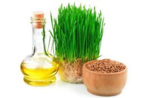 масло и проросшая пшеница